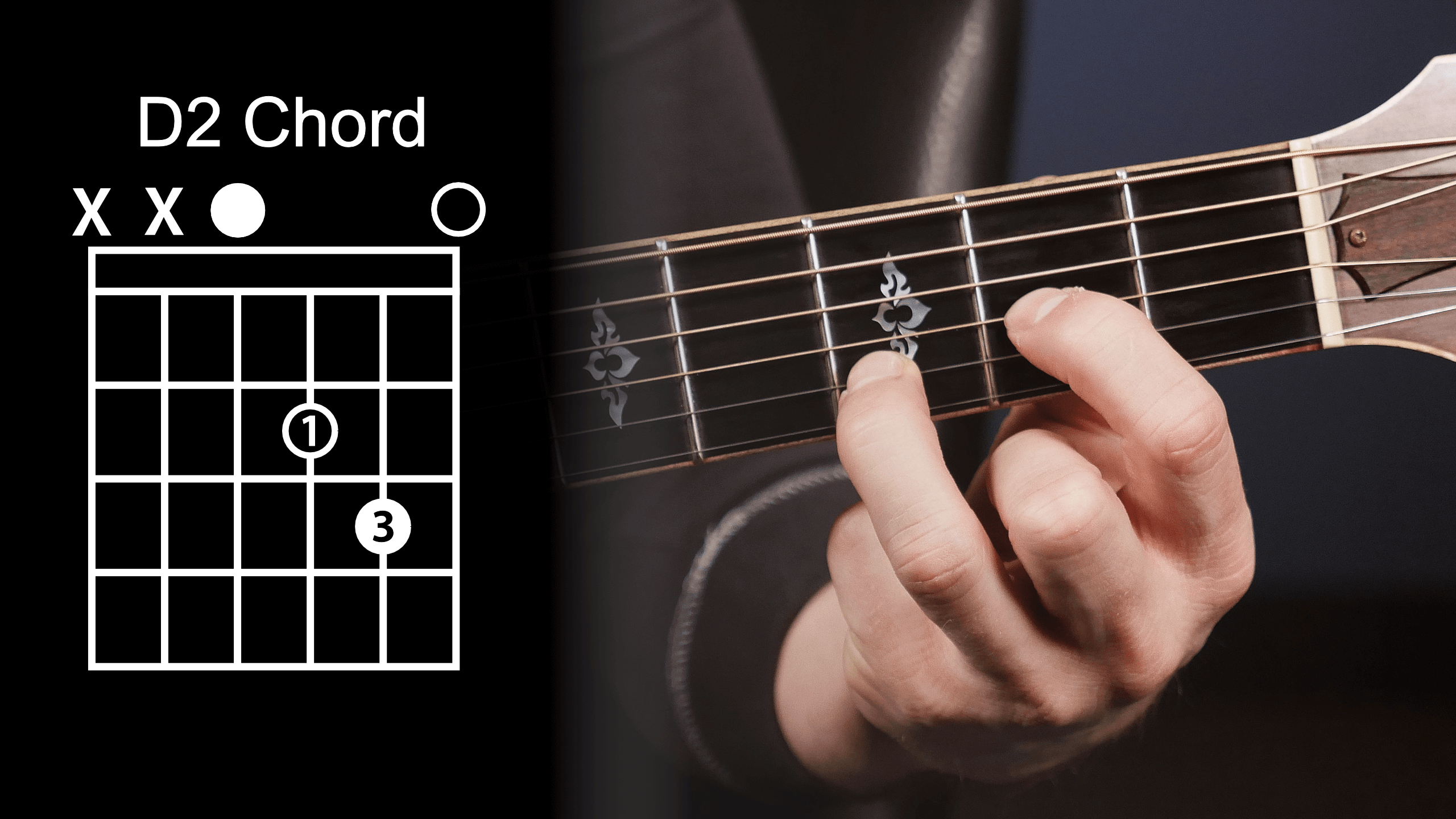 Variations of the different fingerings of the DA guitar chords are listed below Each of these DA chords are listed in standard chord charts