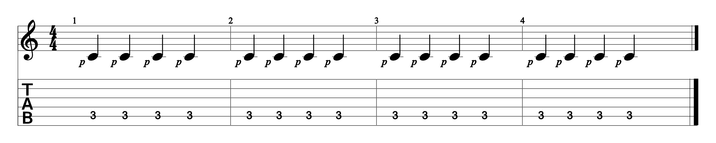 Constant Bass Exercise 1