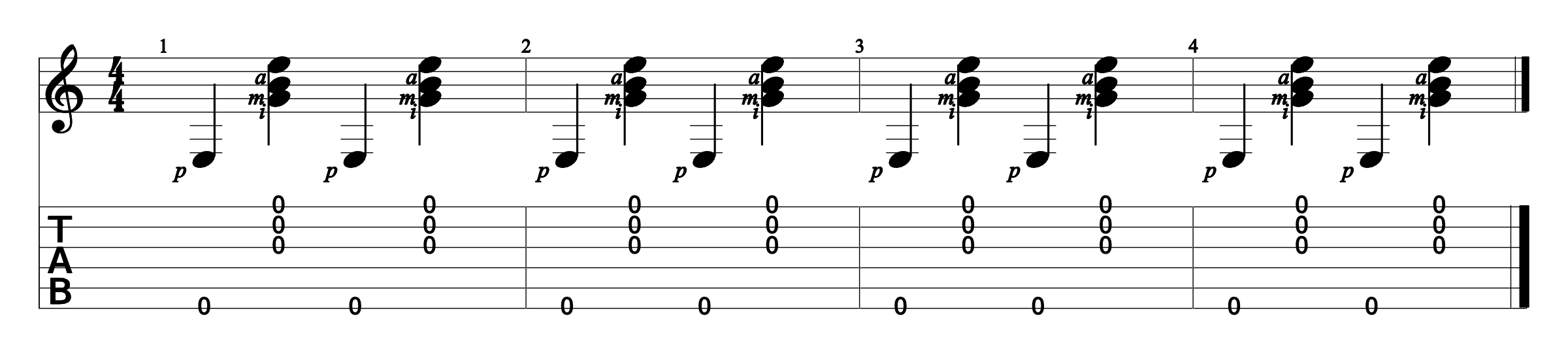 Fingerstyle Exercise