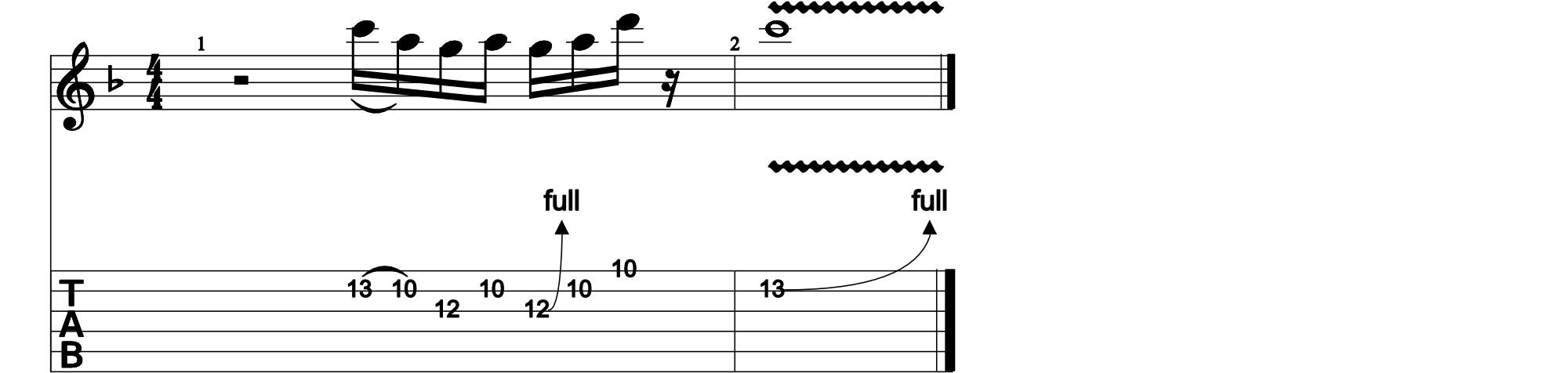 Another Brick In The Wall Lick Tab