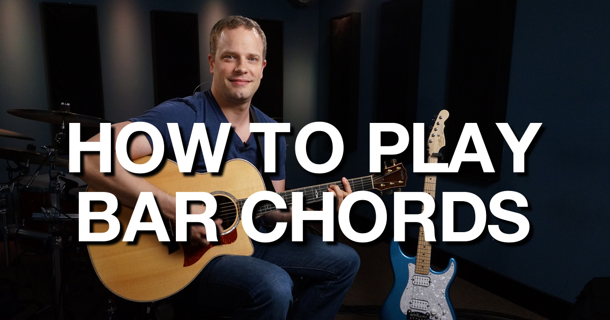 how to learn bar chords on guitar