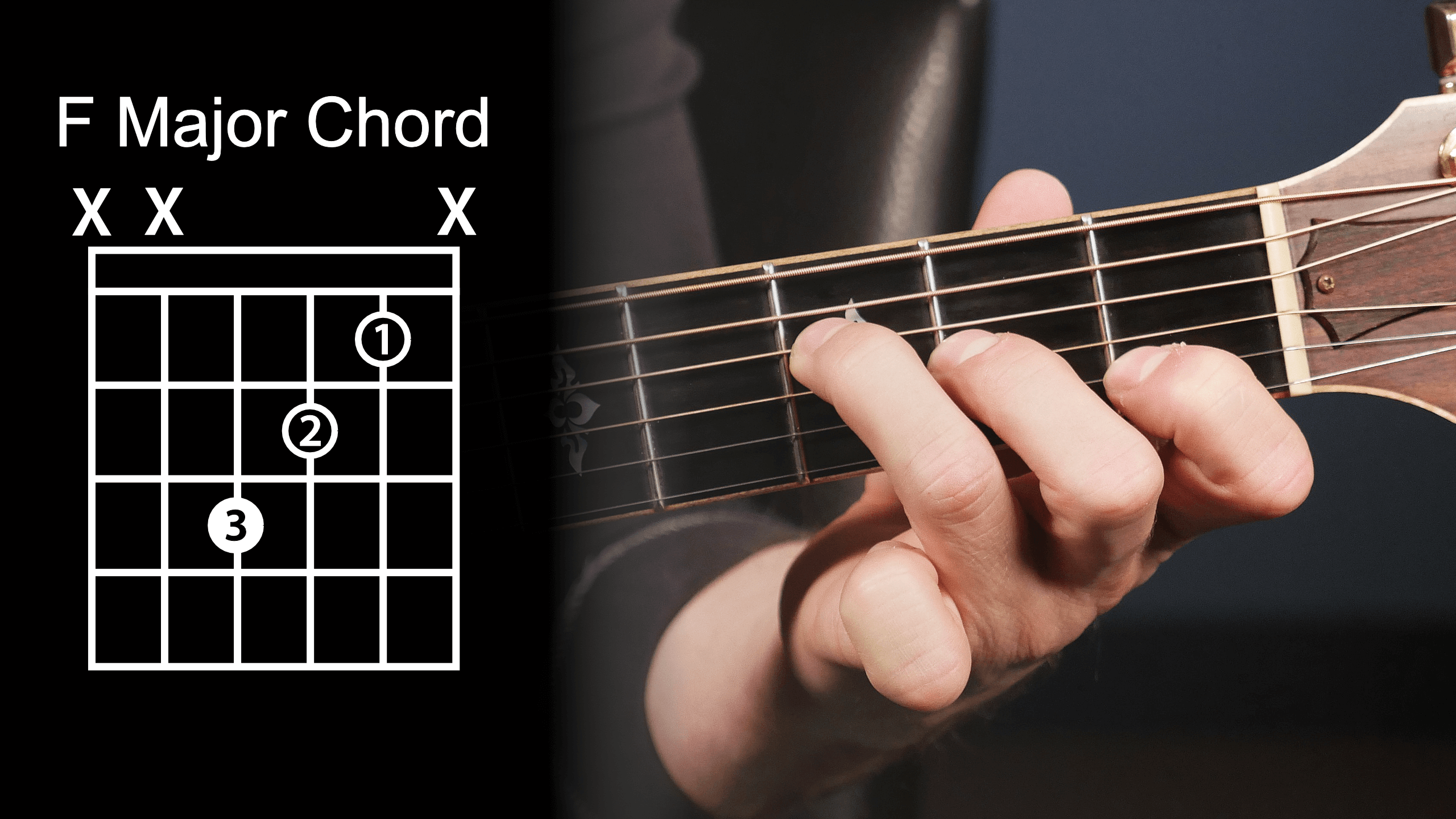 F Major Chord Diagram