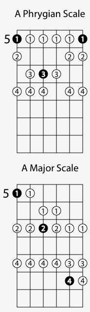 Guitar Scales Phrygian Mode